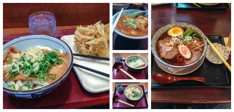 Noodle dishes in Tokyo, Japan