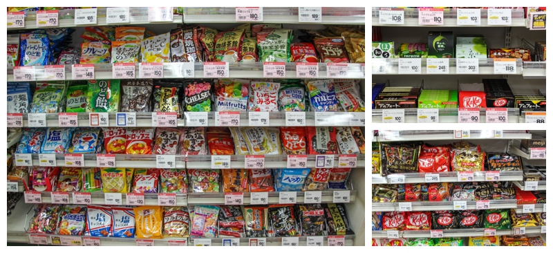 Desserts in Japanese Grocery store