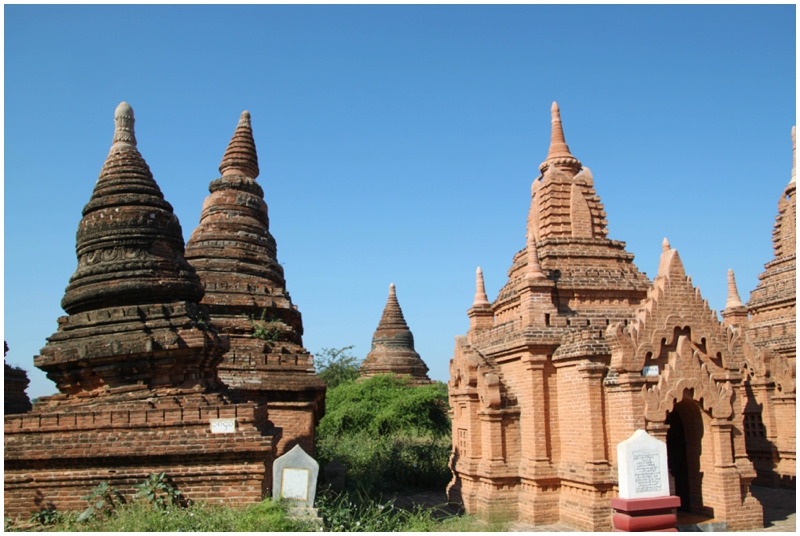 Bagan pagoda damaged by 1975 earthquake