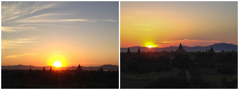 Sunset views in Bagan