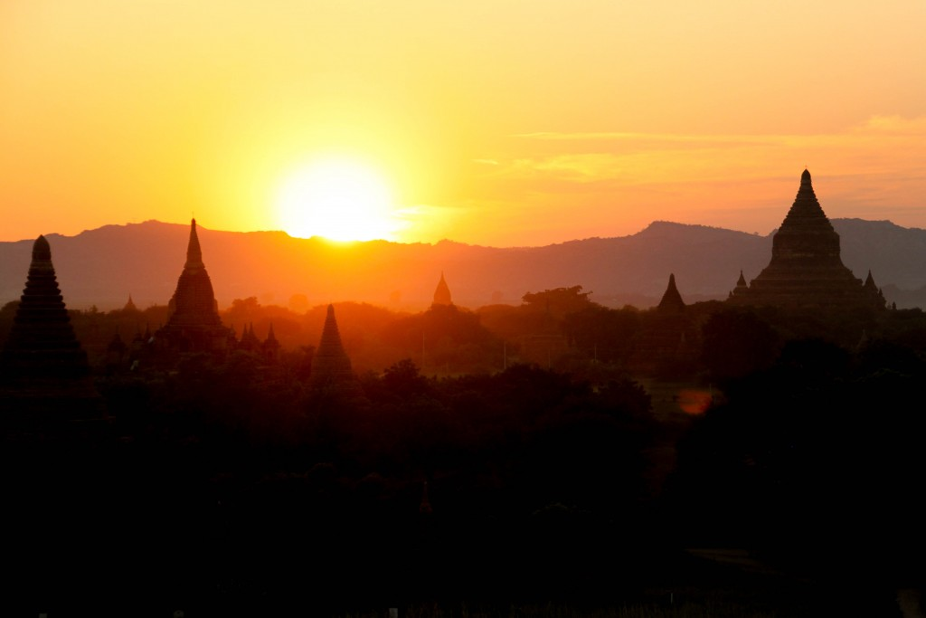 Sunset from Shwesandaw Pagoda