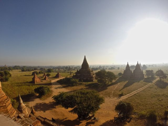 Pagodas in the Bagan plain