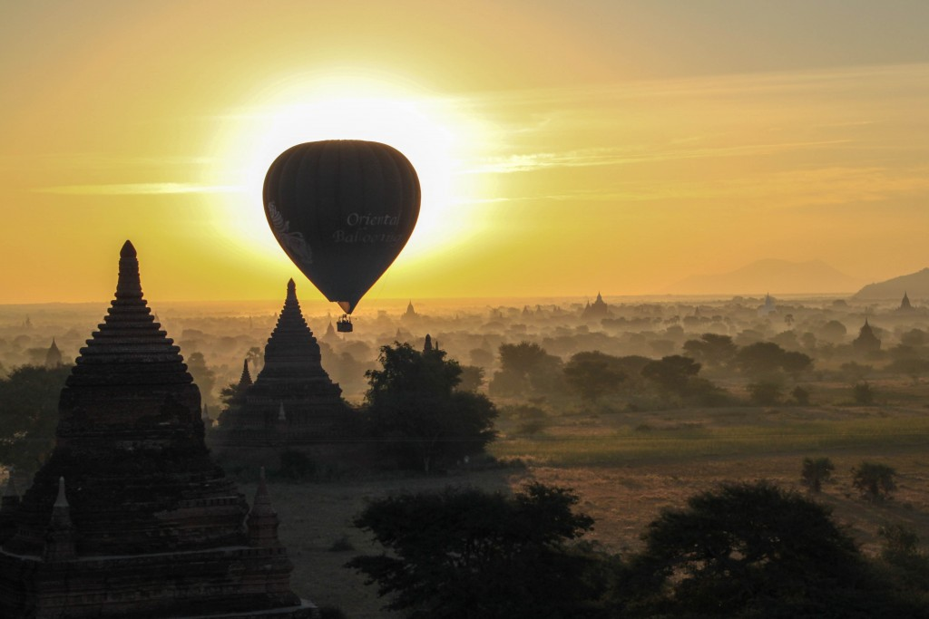Balloons over Bagan Sunrise