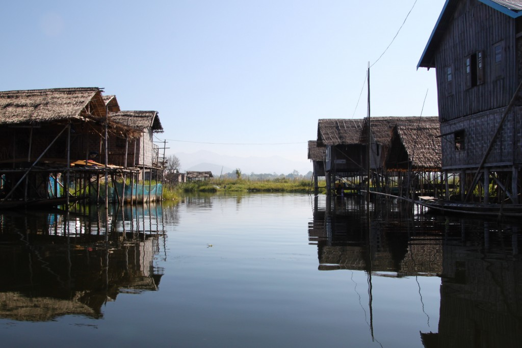 One of many floating villages