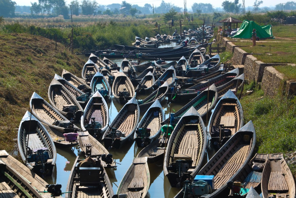 Boat parking Inle Lake