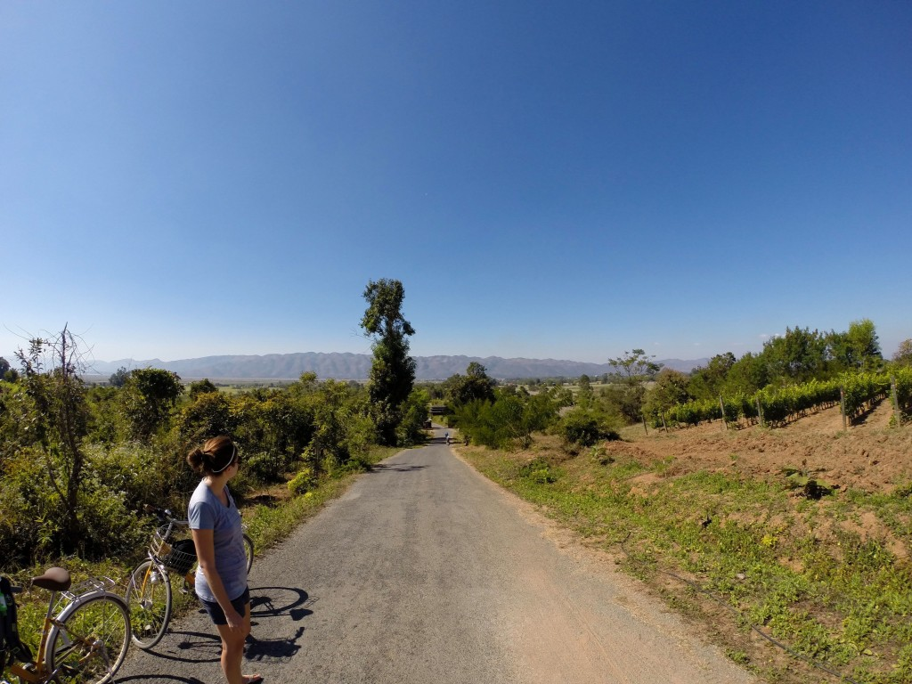 Hill to get to winery in Inle Lake