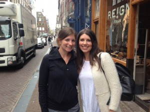 Alana and Rachel in Amsterdam