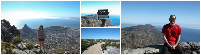The top of Table Mountain in Cape Town