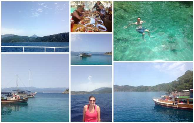 Boat Cruise from Calis Beach Turkey