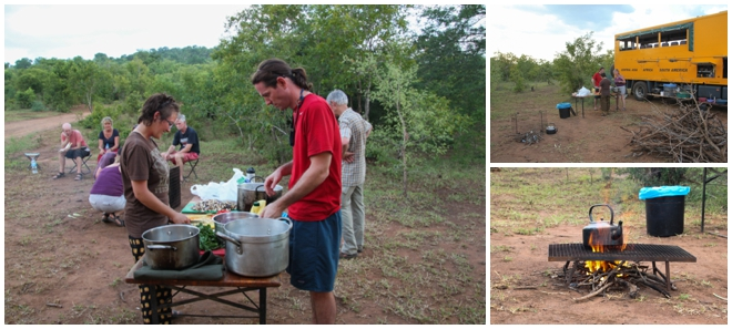 Cooking in Bush Camp
