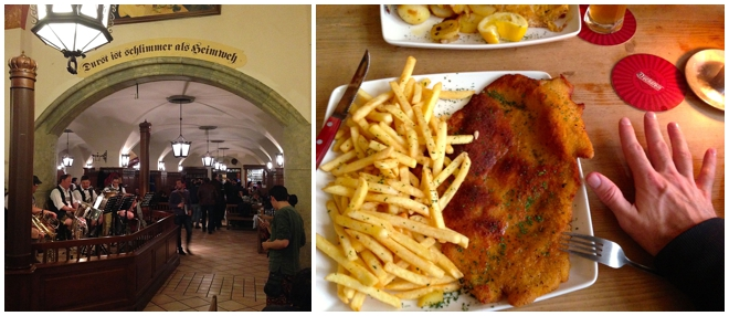 Schnitzel as big as your hand in Germany