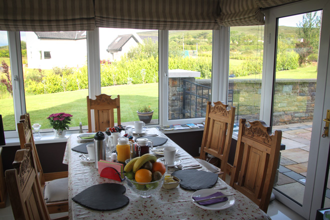 Beautiful breakfast spot at our Airbnb in Tralee Ireland