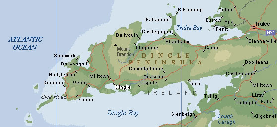 Dingle Peninsula Self Drive Map