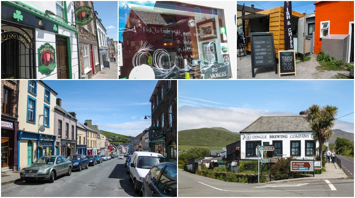 Dingle Town is the perfect stop for lunch and shopping
