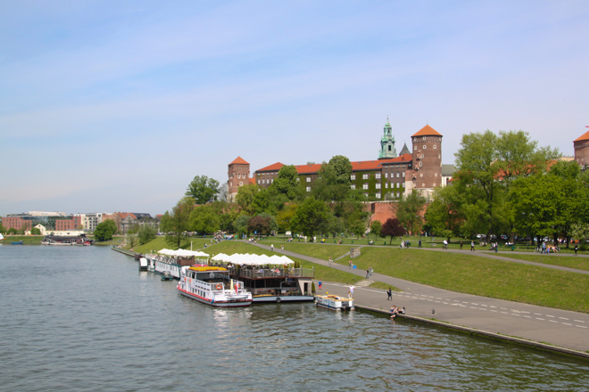 View of Kraków Poland from the water