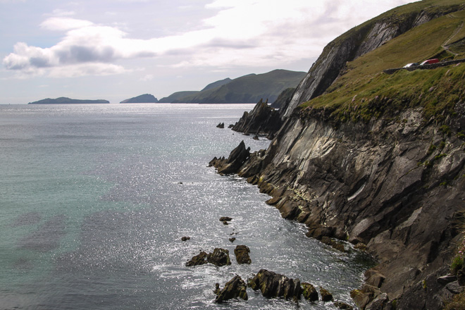 Cliff view on the Dingle Peninsula in Ireland