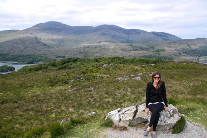 Ladies View lookout point Ring of Kerry drive