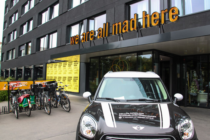 25hours Hotel Museumsquartier Mini Cooper