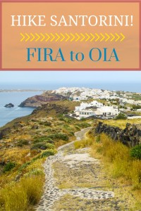 How to hike from Fira to Oia on Santorini