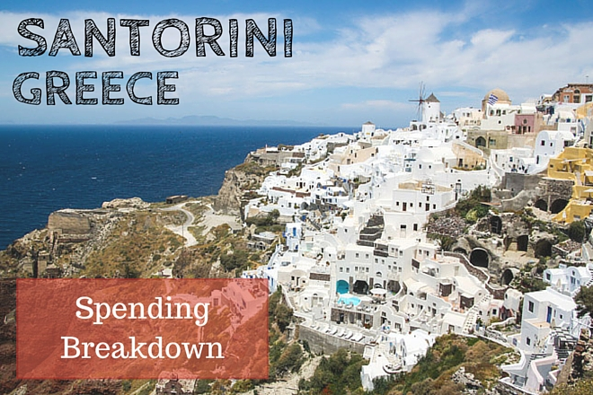 Santorini Greece Travel Spending Breakdown