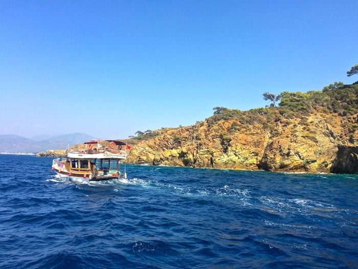 Boat trip on the Mediterranean Sea from Fethiye Turkey