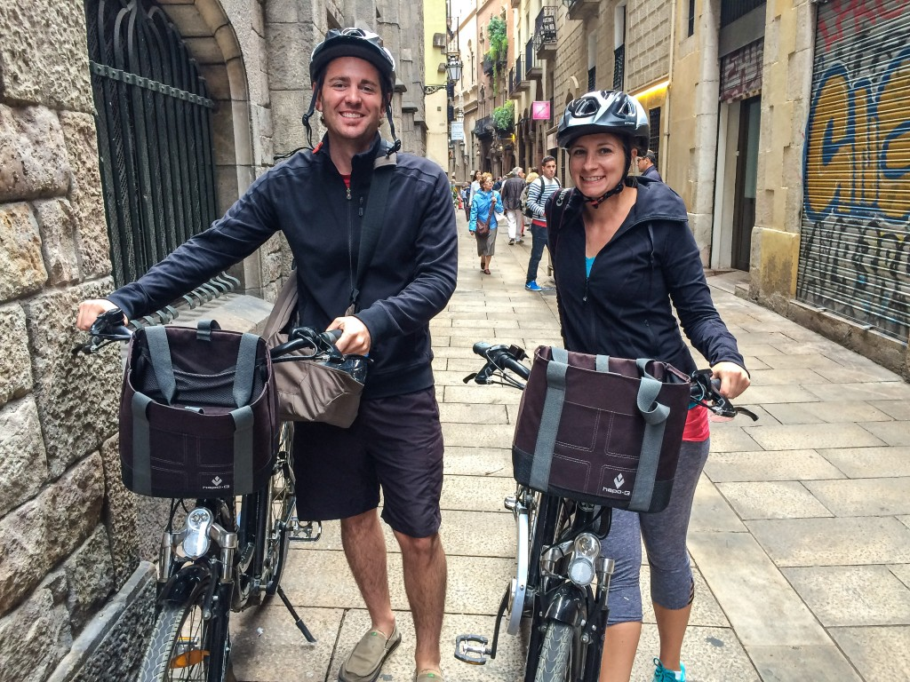See Barcelona by touring on an eBike!