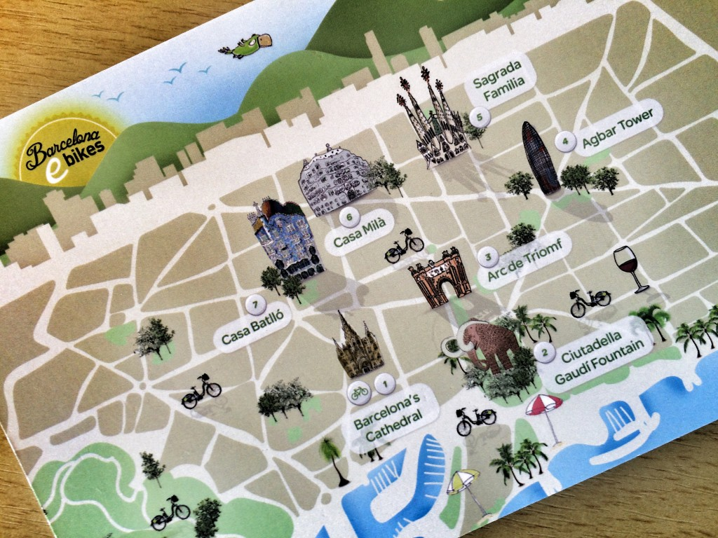 Information card from Barcelona eBikes
