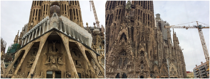 La Sagrada Familia is always under construction