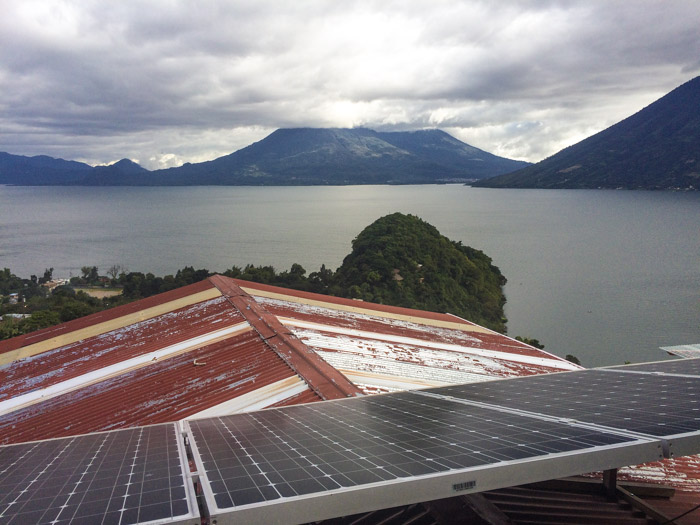 Solar powered house in Guatemala