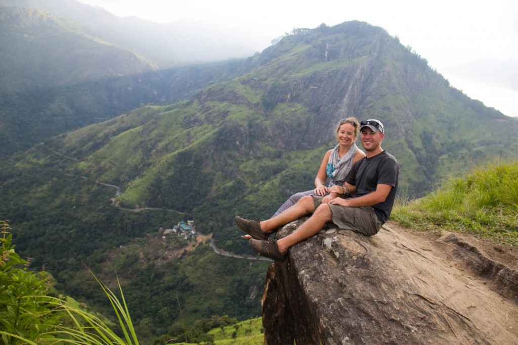 Divergent Travelers at Adam's Peak in Ella, Sri Lanka