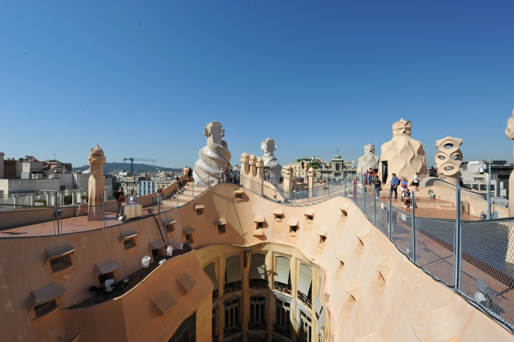 The terrace of La Pedrera in Barcelona