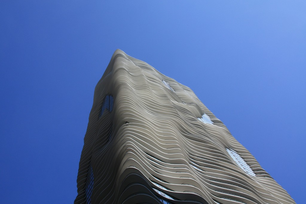 The Aqua Skyscraper in Chicago, Illinois