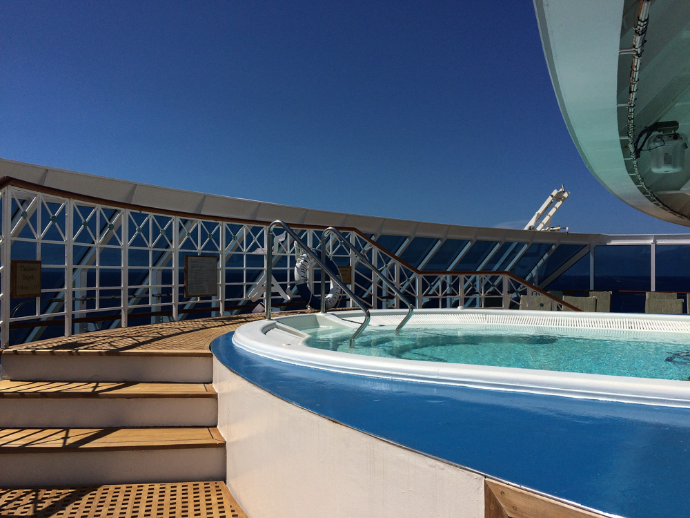 The private pool on the Adonia with Fathom Travel