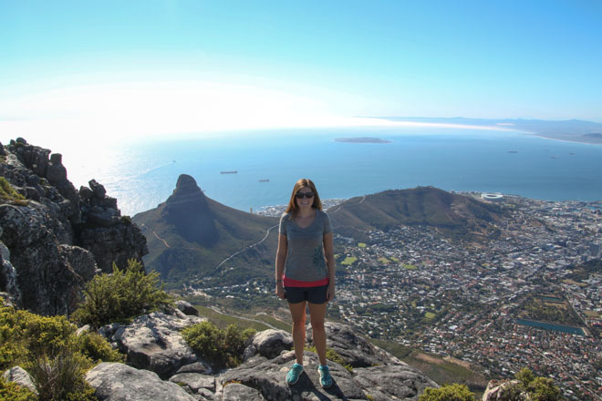 Alana on Table Mountain in Cape Town