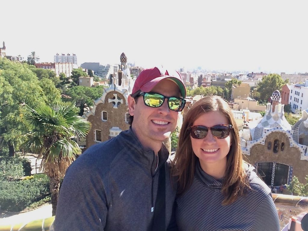 Alana and Matt at Park Guell in Barcelona