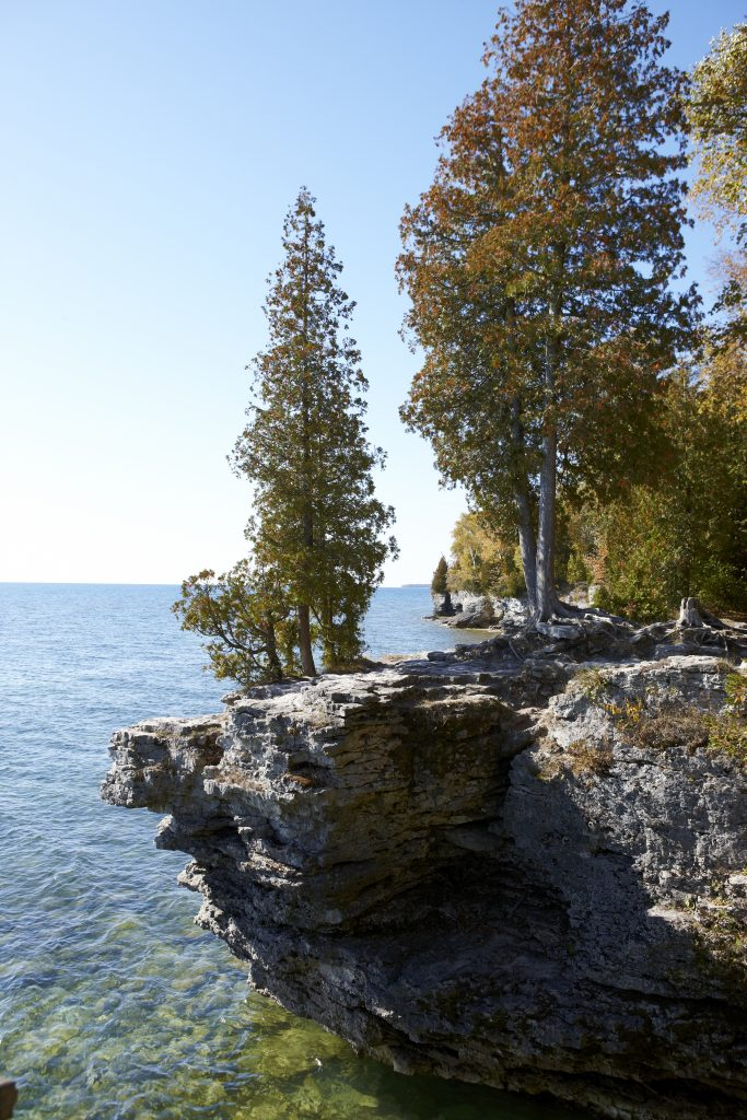 Cave Point in Door County, Wisconsin