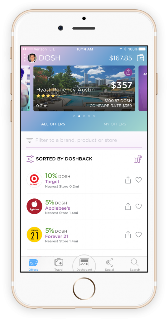 Dosh travel app for cash back savings!